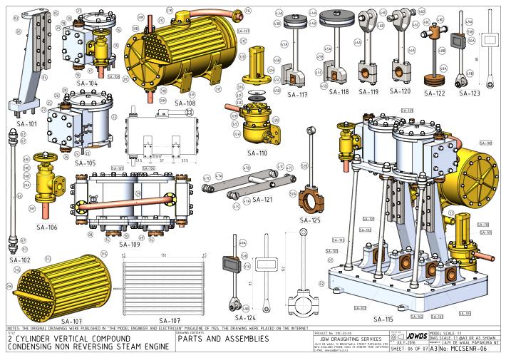 Compound condensing engine 2 – Diagram Of Condensing Steam Engine